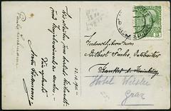 Archiv E439 Postkarte mit Weihnachtsgren vom 22. Dezember 1911 (Hans-Michael Tappen) Tags: stamps 1910s 1911 postkarte briefmarke poststempel 1910er archivhansmichaeltappen kaiserreichsterreich