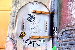 Roma. Trastevere. Street art/sticker art by ZDEY, Mr.Minimal and... (R come Rit@) Tags: urban italy streetart rome roma muro art wall photography graffiti sticker stickerart italia arte label streetphotography wallart trastevere urbanart labels roadsign walls graff segnalistradali graffitiart muri trafficsignals signposts arteurbana stickerbomb zdey graffitirome italystreetart streetartitaly romegraffiti graffitiroma slapart streetartrome streetartphotography romastreetart streetartroma romestreetart urbanartroma mrminimal stickervandal ritarestifo signscommunication romeurbanart