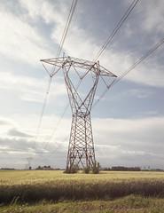 Electricity (Misterdeiv) Tags: 120 epsonv550 kodakektar100 film mamiyarb67 mediumformat rb67 scans mantua mantova italy countryside