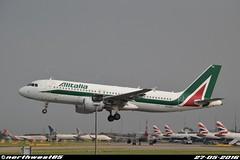 EI-DTD (northwest85) Tags: london plane hotel heathrow thistle landing airbus t5 runway lhr alitalia egll 09l a320216 eidtd