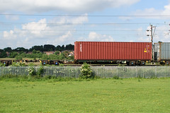 607098 Kingsthorpe 170616 (Dan86401) Tags: 607098 607 fta freightliner fl inner intermodal modal containerflat wagon freight wilsonscrossing kingsthorpe northampton wcml 4m87 tex