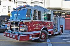 San Francisco Fire Department.  Engine 2 (RJACBclan) Tags: sanfrancisco chinatown sffd spartan engine2 sanfranciscofiredepartment sanfranciscochinatown sffdengine2 sffdstation2