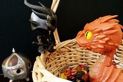 The hoarder dragon (Black Rose Bride) Tags: toys thehobbit smaug skyrim funkopop arrowintheknee whiterunguard daedricwarrior