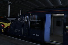 Royal Recognition (cosmostrainadventures) Tags: london stpancras stp southeastern javelin londonstpancras stpancrasinternational highspeed1 at300 londonstpancrasinternational class395 southeasternhighspeed 395005 dametannigreythompson
