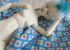 sleeping beauty (tarengil) Tags: asian doll bjd abjd sleep bed cushion pillow feather blue ws white skin resin dollmore zaoll luv