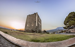 Sunset behind the Castle (Luca La Manna) Tags: sunset tramonto sun sky bluesky sicilia sicily italia italy cloud clouds painting orange blue picoftheday nuvola cielo allaperto castle castello patern etna volcano vulcano mount landscape