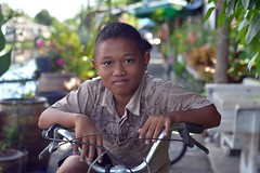 boy on a bike (the foreign photographer - ) Tags: boy bike bicycle portraits thailand nikon bangkok lard bang bua khlong bangkhen d3200 phrao aug222015nikon