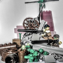 LEGO Hold the Line (wesleyobryan) Tags: gun lego civil revolution unrest resistance marquis emmanuelle barricade apocalego