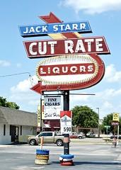 Jack Starr Liquors (Rob Sneed) Tags: vintage jack neon texas cut liquors fortworth liquorstore starr rate tarrantcounty haltomcity belknapstreet jackstarrcutrateliquors jackstarrliquor