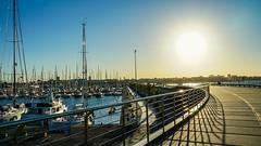 Sunset in the port (Quique CV) Tags: sunset sea summer sun sol beach valencia port puerto atardecer mar spain playa verano 2016 ilce5100