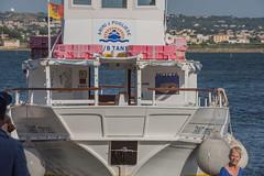 DSC_5876 (Pasquesius) Tags: sea lady island boat barca mare lagoon tourist sicily laguna saline sicilia saltponds isola turista marsala mozia mothia stagnone motya riservanaturaledellostagnone