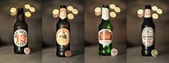 Last night... (D.J. De La Vega) Tags: beer ale stout guinness lager birra moretti stella artois hop house 13 thirteen extra bokeh bottle italy ireland belgium
