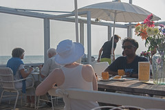 Sea side (=Mirjam=) Tags: nikond750 strandpaviljoennoord bergenaanzee odc beach restaurant northsea shore people summer saturday afternoon juli 2016