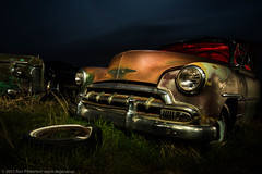 The Gathering (dejavue.us) Tags: longexposure nightphotography lightpainting chevrolet abandoned buick nikon fullmoon idaho chevy junkyard nikkor 1835mmf3545d vle d810
