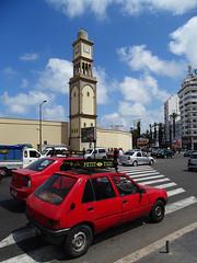 Clock Tower, Petit Taxi (Daniel Brennwald) Tags: taxi clocktower morocco medina casablanca petittaxi