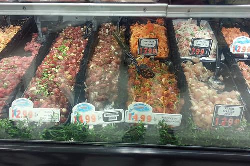 Ahi Poke, Crab Salad,
