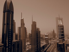 Skyskarpers near sheik zayed road.
