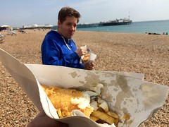 Fish'n'chips on the beach.