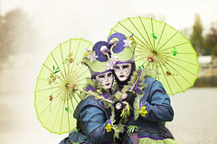 The Green Lovers (TigreRoux) Tags: carnival green lovers carnaval verdun 2015 carnavalvnitien venetiancarnival vnitien