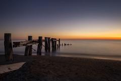 Waiting for a Sunrise (hey its k) Tags: longexposure beach sunrise landscape lakeontario grimsby groynes hfg ef24105mmf4lisusm hamiltonconservationauthority fiftypointconservationarea canon6d img8385e