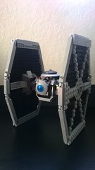 TIE Fighter (Updated & Modified) Back View (AJV777) Tags: toys starwars mod lego tie empire imperial tiefighter moc starfighter