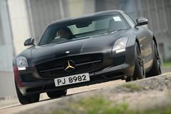 Mercedes-Benz SLS AMG in Hong Kong (Ben Molloy Automotive Photography) Tags: hk motion car photography mercedes ben automotive hong kong mercedesbenz vehicle molloy sls amg