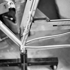 From a forgotten roll of #trix400 I dropped off more than a month ago. #weavercycleworks #custombicycles