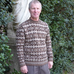 Jumper in natural coloured wools (lyndell23) Tags: knitting natural handmade knit handknit fairisle knitted handknitting colourwork undyed undyednaturalcolourwool