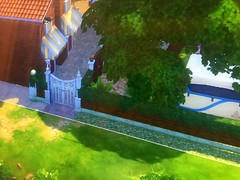 Regal Day-Dae Park. My Design for the Sim4 Simulation Game. It has a Amphitheater, Art Center, Gardens, Maze, Library, Shops, Wellness Center, Hot Tub, Sauna, Bar, Dance Floor Observatory, Campground  and Playground.  EA: Sim4 ReginaDayDae (EDWW day_dae (esteemedhelga)) Tags: park camping ballet fountain pool playground garden painting dance library chess simulation observatory bakery amphitheater artcenter gym sauna thesims coffeshop horsehoe sims4 regaldaydaepark