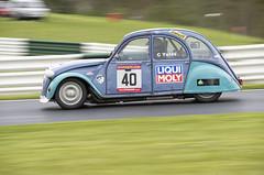 2CV - Cadwell Park (chris.selby) Tags: park chris classic car club race muffins championship automobile track citroen racing lincolnshire blueberry 2cv british 40 dolly barc yates motorsport 602 cadwell moly liqui