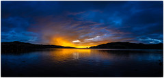 Early Autumn sunset glow (five15design) Tags: autumn newzealand storm fall harbour southisland dunedin aotearoa mainland thefall latesummer otagoharbour nikonnz