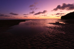 Wet sand (alideniese) Tags: ocean sunset shadow sea sky reflection beach water silhouette clouds landscape evening coast sand purple dusk shoreline australia melbourne victoria coastal shore morningtonpeninsula waterscape portseabackbeach