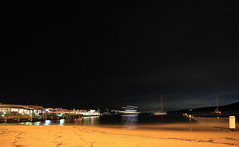 (simon60d) Tags: longexposure sky beach night outdoors evening sand harbour yacht manly sydney shore wharf ferries manlyferries