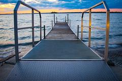 At the boat ramp (lucasdunham) Tags: blue sunset sky water metal dock lucas dunham lucasdunham