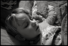11th of February 2016 (Paul of Congleton) Tags: sleeping blackandwhite girl monochrome digital child sony katie diary katherine february asleep 2016 myeverydaylife rx100 evensmallerperson