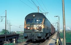 5938  Ekeren  27.04.84 (w. + h. brutzer) Tags: analog train nikon eisenbahn railway zug trains locomotive 55 belgien lokomotive diesellok eisenbahnen ekeren sncb dieselloks webru