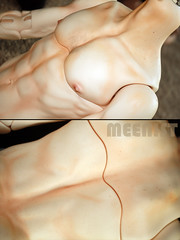 Mature and Strong Body Detail (meenist faceups) Tags: doll martin body ooak makeup mature bjd commission abjd freeman textured blushing 2016 faceup dollshe faceups modoll meenist