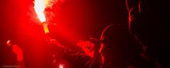 LOS DE ABAJO (sebandres_) Tags: chile santiago red de lights los rojo pyro hooligans abajo leones ultras buho hinchas bengala universidaddechile hinchada udechile losdeabajo barrasbravas