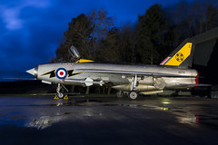 BAC Lightning F3 - 29 (NickJ 1972) Tags: night photo shoot photoshoot aviation c ground nightshoot f3 lightning lpg proving bac 2016 englishelectric britishaircraftcorporation bruntingthorpe xr713