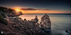 Cala Deia Sunset (Eden Exposito) Tags: dawn sunrise spain coast color caladeia mediterraneansea goldenhour mallorca sunset europe seascape balearicislands horizontal painting landscape colour deia illesbalears espaa es