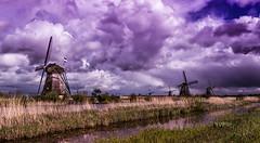 Kinderdijk (markchan0516) Tags: travel sky holland building water netherlands windmill dutch architecture clouds rotterdam south nederland kinderdijk