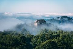 A haunted house (Bokehm0n) Tags: travel sky cloud mist mountain nature fog germany landscape outdoors daylight flickr folk earth saxony scenic explore idyllic 500px vsco 5dmkiii vscofilm