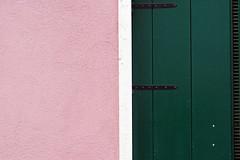 pink & green (margycrane) Tags: venice italy wall buildings venezia burano