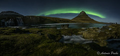 Fantasmas en KirKjufell. (Antonio Puche) Tags: night wow landscape iceland islandia nikon nightscape nightshot pano paisaje panoramic aurora nocturna kirkjufell auroraborealis panormica auroraboreal nikond810 nikon142428 antoniopuche