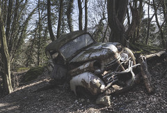 'Slanted ride' (Timster1973 - thanks for the 11 million views!) Tags: auto old color colour cars car neglect canon vintage germany tim still rust ruins europe silent decay exploring urbandecay transport neglected ruin rusty explore vehicles german rusted transportation rusting exploration derelict decayed decaying dereliction eurotour vintagevehicles autofriedhof oldtransport urbanwandering timknifton timster1973 knifton carmargeddon germanyexploration