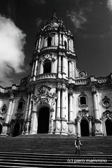 Modica _ San Giorgio (piero.mammino) Tags: blackwhite chiesa church modica sicilia sicily scale stairs bianconero giorgio stgeorge barocco baroque