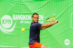 KPN Bangkok Open ATP Challenger Tour 2016 (Chatimage) Tags: world man game male sport ball thailand concentration play open action russia top champion competition grand victoria player class professional tennis tournament international pro editorial quarter match practice win kpn athlete score racket federation serve backhand compete 2016 forehand mikhailyouzhny