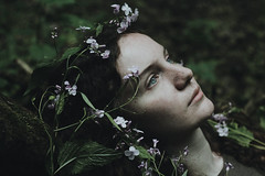 Forest (Alina Autumn) Tags: new flowers people flower color green art love nature girl beautiful forest eyes mood russia outdoor atmosphere beaty freckles tragedic fragility