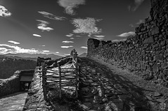 The way (2) (mostodol) Tags: autumn bw mountain france castle montagne automne wow way fuji nb fujifilm chteau chemin auvergne puydedme xa1 murol greatesphotographers