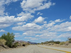 So Cal Road Trip (PickerManBlues) Tags: california road ca sky mountains ahead sand rocks looking desert down mojave blacktop